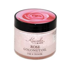 Botanically infused Rose Coconut oil softens, soothes, and hydrates the skin. It acts as a tonic and gently stimulates skin cells. Rose is a heart opening mood enhancer.
