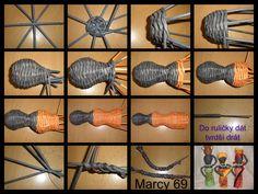 Návod na černošku Newspaper Basket, Newspaper Crafts, Dolls Prams, Pattern Paper, Projects To Try, Weaving, Xmas, Diy, Knitting