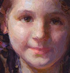 "scott burdick paintings | Rachael and Raggedy-Anne"" oil, 20"" by16"""