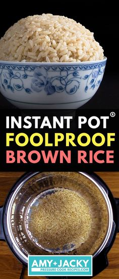 Instant Pot Brown Rice No more uncooked, burnt or mushy brown rice. Cut short half the cooking time & make perfect Instant Pot Brown Rice (Pressure Cooker Brown Rice) in 20 minutes! Set it and forget it. Pressure Cooking, Pressure Cooker Brown Rice, Best Pressure Cooker, Instant Pot Pressure Cooker, Pressure Cooker Recipes, Perfect Brown Rice, Best Instant Pot Recipe, Instant Pot Dinner Recipes, Casserole Recipes