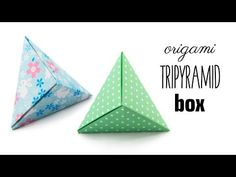 Learn how to fold an origami 'tripyramid box' designed by David Donahue! This cool origami box can also be used as a bead and also easily turned into a useful phone stand! Origami Design, Diy Origami, Origami Yoda, Origami Dragon, Origami Fish, Origami Folding, Useful Origami, Origami Stars, Paper Folding