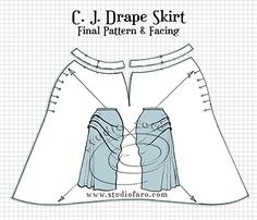 A 101 approach to understanding darts to drape in flat pattern making - no really, that's what I call it. :)  The very late posting of The C.J. Drape Skirt.http://www.studiofaro.com/well-suited/pattern-puzzle-cj-drape-skirt?utm_content=buffera2ad4&utm_medium=social&utm_source=pinterest.com&utm_campaign=buffer   Enjoy!