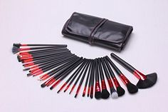 GAOMEI Eye shadow makeup brush makeup brush set 32 red tube black *** Check this awesome product by going to the link at the image.