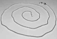 """GIFT!  Sterling Silver Ball Bead  Chain Necklace.18"""" #Chain"""