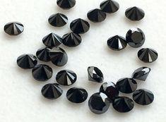 Black Brilliant Cut Diamond 2mm 0.5 CTW 12 Pcs by gemsforjewels