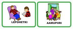 päivälokerikkokortit päiväkotiin Vocabulary, Language, Family Guy, Teaching, Education, Comics, Kids, Fictional Characters, Young Children