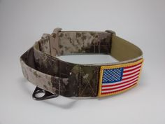 Tactical Military dog collar with handle, A-Tacs AU, Velcro area 2x3inch, AustriAlpin Cobra buckle, size L and XL, width 2inch MIA K9 by MIaK9 on Etsy https://www.etsy.com/listing/247229105/tactical-military-dog-collar-with-handle