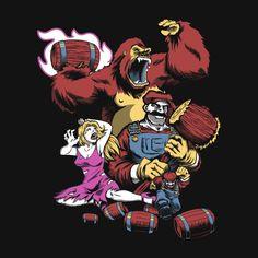 25 Nerdy Nintendo T Shirts | 3. Barrel Boss Battle – by matthewparsons
