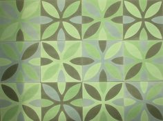 articima encaustic cement tiles ,patchwork green