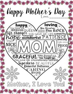 UNIQUE POSTER/CARD FOR MOTHER'S DAY - DIFFERENT VERSIONS-23 PAGES Mothers Day Cards, Happy Mothers Day, Learning Centers, Learning Activities, As You Like, Give It To Me, Unique Poster, Happy Love, Unique Cards