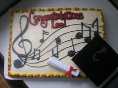 Grad cake Music Note Cake, Music Notes, Grad Parties, Graduation, Birthdays, Party Ideas, Cakes, Desserts, Food