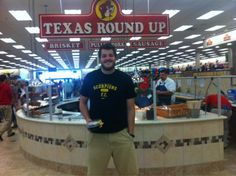 The brand new Buc-ee's mega gas station/convenience store in New Braunfels -  It has 60 gas pumps, fudge, walls of candy, the cleanest bathrooms on any Texas highway, a hunting section, kolaches and 8 kinds of beef jerky. Ladies and gentlemen, Texas at its finest.  And New York doesn't even want to sell you a Big Gulp.  Sheesh.