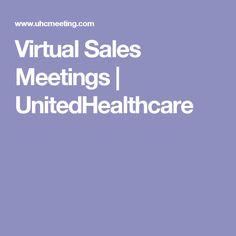 Virtual Sales Meetings | UnitedHealthcare