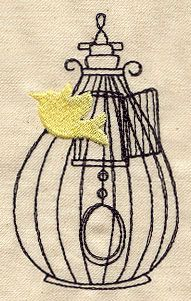 Embroidery Designs at Urban Threads - Beautiful Birdcage 5 Cute Embroidery, Japanese Embroidery, Embroidery Needles, Cross Stitch Embroidery, Machine Embroidery Designs, Embroidery Patterns, Bird Patterns, Pattern Ideas, Urban Threads