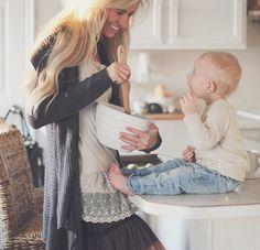 the joy of being in the kitchen with mommy, it also begins the tradition of licking the bowl