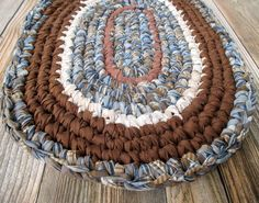 Crochet Rag Rugs - Kitchen Rug - Machine Washable Rugs - Bedroom - Bathroom - Upcycled Rag Rug - Oval - Recycled - Home Decor - Ecofriendly by ThankfulRose on Etsy
