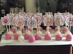 Shopkins Cakepops!!😋 #shopkins #shopkinsbirthday #shopkinscakepops #candiesbakery  @candies_bakery