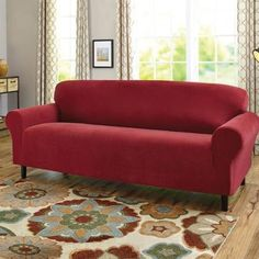 Sofa Cover Better Homes and Garden Stretch Fine Corduroy Sofa Slipcover Red