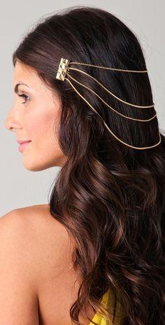 golden hair chain