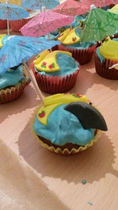 Leckere Urlaubs cupcakes