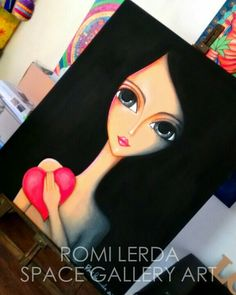 Romi Lerda – ergn – Join the world of pin Fabric Painting, Painting & Drawing, My Art Studio, Arte Pop, Modern Artists, Art Store, Pictures To Draw, Face Art, Easy Drawings