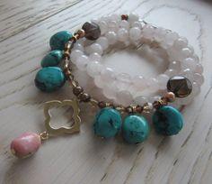 Handmade wrap Bracelet Necklace Valentines day gift by MahsanAmoui