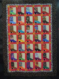 Boots are for Girls by Kathleen McCulloch, quilted by Julie House.  2014 TQG, photo by Quilt Inspiration