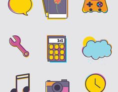 Icon set designed for  school project.