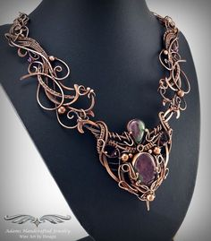 Wow. Absolutely stunning woven wire necklace from Nicole Hanna Jewelry