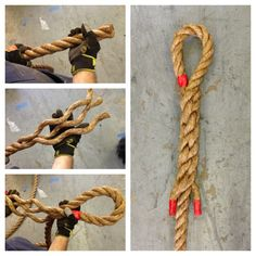All of our climbing ropes are HAND SPLICED. This is a sailors knot with exceptional strength that will not come undone!