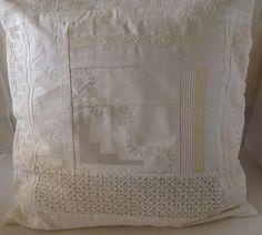 Kissenbezug  Patchwork Shabby weiss von einfachschön! auf DaWanda.com