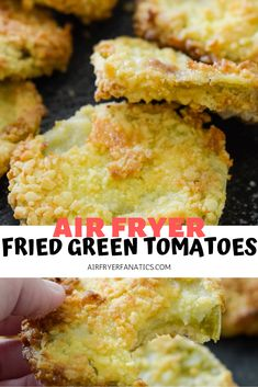 These Air Fryer Fried Green Tomatoes are perfect to make and eat up with fresh tomatoes off the vine, plus too! A great or Recipe! These Air Fryer Fried Green Tomatoes are perfect to make and eat up with fresh tomatoes off the vine, plus too! Air Fryer Recipes Wings, Air Fryer Recipes Snacks, Air Fryer Recipes Vegetarian, Air Fryer Recipes Low Carb, Air Fryer Recipes Breakfast, Air Frier Recipes, Air Fryer Dinner Recipes, Low Carb Recipes, Snack Recipes