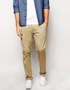 $95, Khaki Chinos: Diesel Chinos P Aily Slim Tapered Fit. Sold by Asos