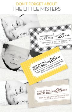 Baby Boy Business cards