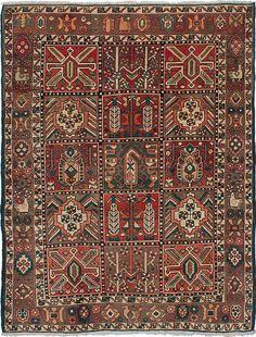 5'0 x 6'6 Persian Vintage Bakhtiari