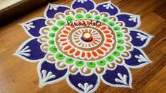 2 Quick and easy flower shaped rangoli designs using cookie cutters