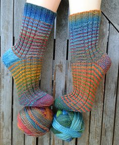 Difference by Birgit Ka The idea behind this pattern is that I wanted to knit socks  that are not completely identical.