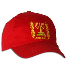 Click to Enlarge   Israel Menorah Symbol Cap