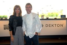 The Spanish actress Silvia Alonso had the honor to taste some of the tasty creations of the prestigious chef of Mugaritz, Andoni Aduriz, in a spectacular showcooking at #MMOpen Dekton stand.