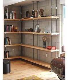 La Brea Furniture Store Mortise & Tenon in Los Angeles Featuring Handmade Custom Designs from Reclaimed Wood Tables to Interior Design - Home Projects We Love Diy Casa, Basement Flooring, Basement Walls, Basement Shelving, Basement Bathroom, Flooring Ideas, Basement Apartment, Basement Office, Dark Basement