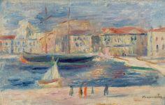 PIERRE-AUGUSTE RENOIR (French, 1841-1919). Le Port de Saint-Tropez.