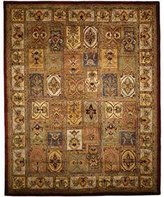 Handmade Classic Bakhtieri Multicolored Wool Rug (7'6 x 9'6)