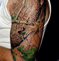 This camo tattoo is awesome