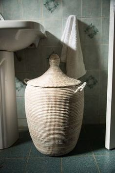 Ali Baba Laundry Basket, Natural