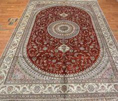6'x9' Handmade Hand-knotted 200 kpsi Silk Oriental Persian Tabriz Rug 371