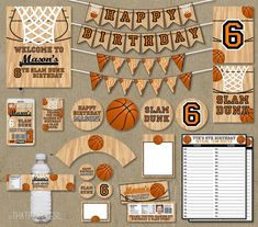 Basketball Birthday Party Package Favors Banners by thatpartygirl, $35.00