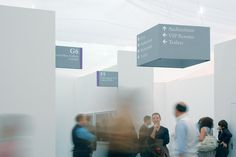 Great temporary 'cardboard' solution for wayfinding; Frieze Art Fair by Graphic Thought Facility, 2002