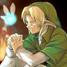Link's prayer - #Zelda #Navi