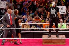 Sting Surprise Return In WWE Monday Night Raw 24 August 2015