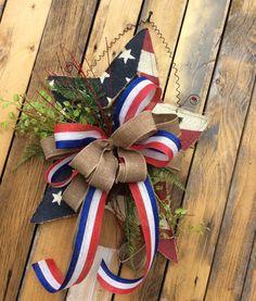 4th of july wreath Americana Wreath 4th of July Wreath by Keleas